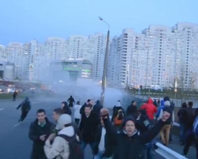 Видео дня: массовые беспорядки в Киеве (реал видео 21+)