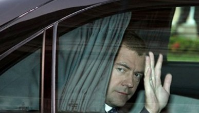 Видео дня: Кортеж Дмитрия Медведева в Симферополе 27 апреля (видео)