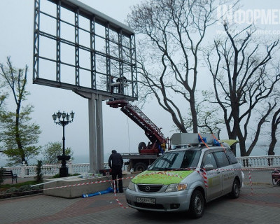 Демонтируют ли жидкокристаллические экраны в Севастополе после 9 Мая? Мнение севастопольцев (опрос, фото)