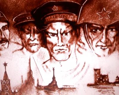 Уникальное видео: песочная анимация к 70-летию Великой Победы!