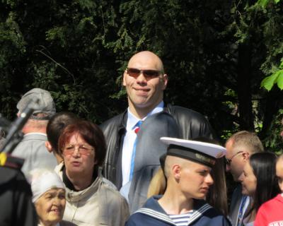 Бывший боксер-супертяжеловес Николай Валуев на параде в Севастополе (фото)