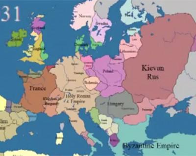 Как изменялась карта европы за последние 1000 лет