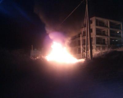 Этой ночью в Севастополе горели горы мусора. К счастью, пожар удалось вовремя ликвидировать (фото)