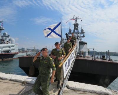 Экипаж МРК «Мираж» вернулся в Севастополь из дальнего похода и получил награды от Путина (фото)