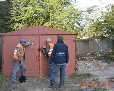 Гагаринский район Севастополя потерял 106 гаражей (фото)