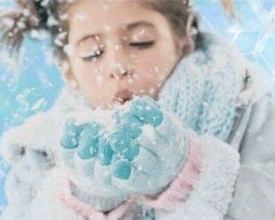 Крымские дети покрываются коркой льда