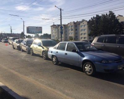 """В Севастополе на """"Студгородке"""" ДТП. Четыре автомобиля """"поцеловали"""" друг друга (фото)"""