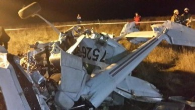 Появились первые кадры (фото и видео) с места крушения самолёта в Крыму