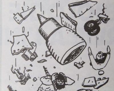 Чиновники РФ возмущены циничным карикатурами французского журнала, высмеивающего страшную авиакатастрофу (фото)