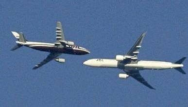 Над Москвой на высоте около 2 тысяч метров едва не столкнулись два самолёта (видео)