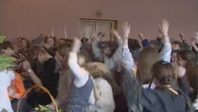 Редкие кадры школьной дискотеки 90 -х (видео)