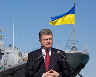 Порошенко блокирует Крым с моря (видео)