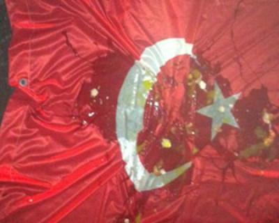 В знак протеста россияне закидали посольство Турции тухлыми яйцами и бумажными самолётиками (видео)