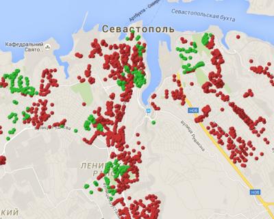 Очень КРУТО! В Севастополе сделали сайт, который в реальном времени показывает, где есть электричество