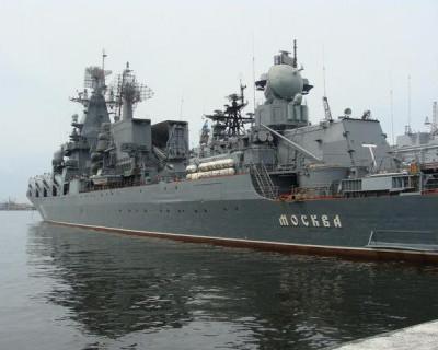 Ракетный крейсер «Москва» вернулся в Севастополь из Сирии