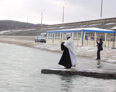 Чернореченское водохранилище освящено (фото, видео)