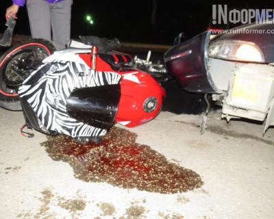 Ночной ИНФОРМЕР: В Севастополе мотоцикл влетел под автомобиль (фото)