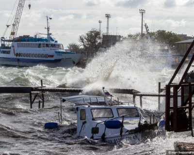 Последствия шторма в Евпатории 25 - 26 октября 2014 г