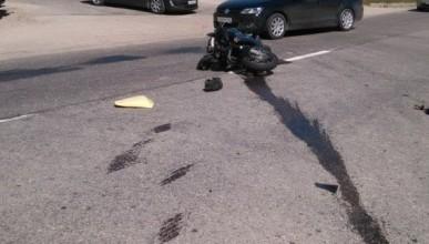 ДТП в Севастополе: мотоциклист оказался под колёсами легковушки (фото)