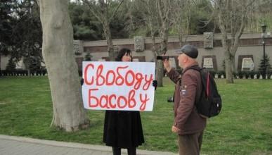 #FreeBasov. В Севастополе прошли одиночные пикеты в поддержку Геннадия Басова
