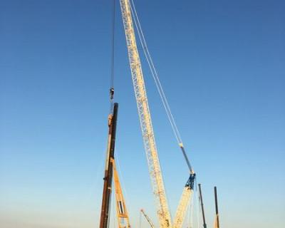 Строители Керченского моста за 70 минут «впились в землю» (фото)