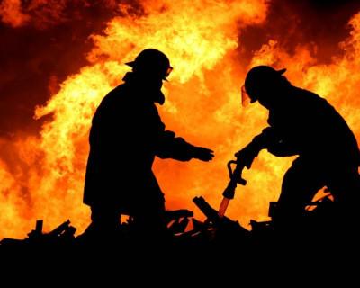 Во время пожара погиб человек