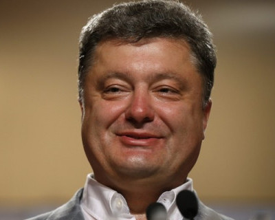 Президент Украины отобрал у бойцов Нацгвардии тарелку борща (видео)
