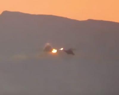 В Сирии сбит российский вертолёт – экипаж погиб (видео падения)