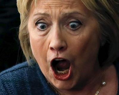 В День выборов Клинтон головой едва не поцеловала асфальт
