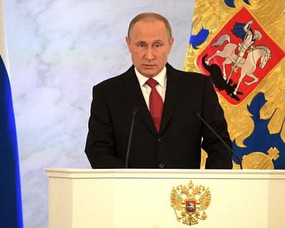 Президент Владимир Путин обращается к Федеральному собранию и даёт интересные комментарии