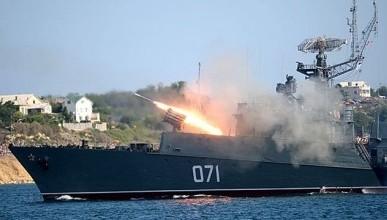 Корабли ЧФ поражают цели в крымском небе