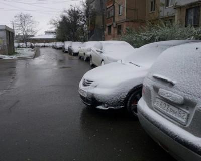 Крым припорошило апрельским снегом