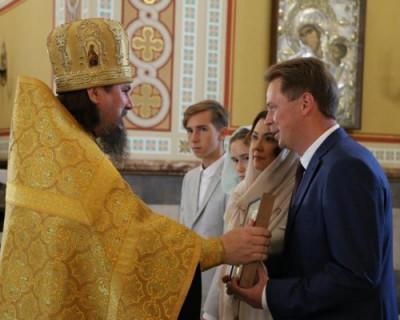Дмитрий Овсянников помолился перед собственной инаугурацией