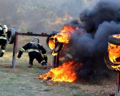 Севастопольским пожарным по плечу высота и большая температура