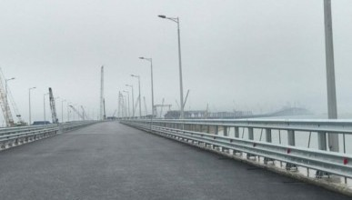 На Крымском мосту ждут машину Путина!