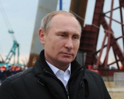 Президентский кортеж на Крымском мосту