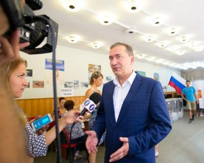 Дмитрий Белик проголосовал на выборах президента 2018