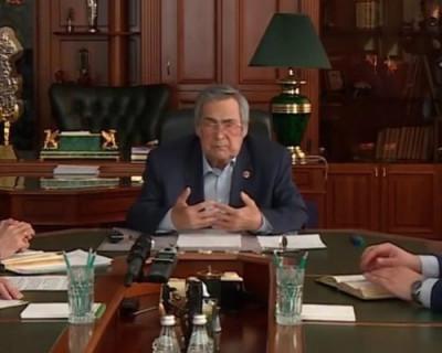 Тулеев записал видеообращение к жителям Кузбасса