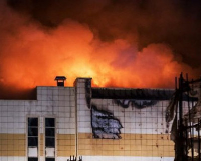 СК опубликовал полную версию начала пожара в «Зимней вишне» (ВИДЕО)