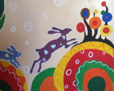 В детской поликлинике №2 завершилась роспись стен