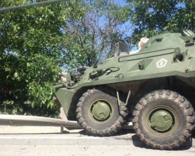 Неожиданное ДТП в Крыму: на трассе «покуролесили» БТРы (ФОТО, ВИДЕО)