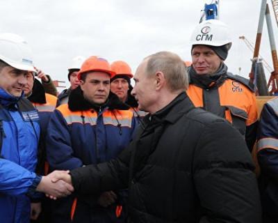 15 мая Крымский мост откроет Владимир Путин