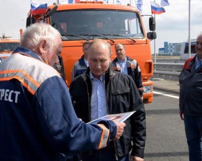 Как запускалось движение на Крымском мосту