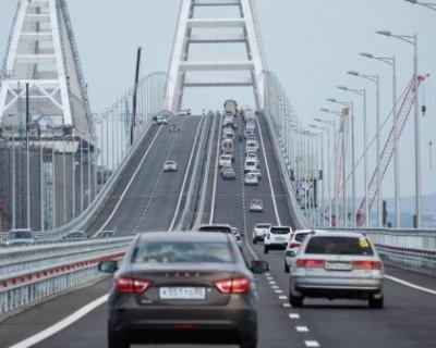 Первое ДТП на Крымском мосту