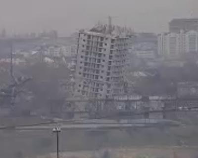 СКАНДАЛЬНАЯ ВЫСОТКА, на ул.Капитанской после первого взрыва НЕ РАЗРУШИЛАСЬ! (видео)