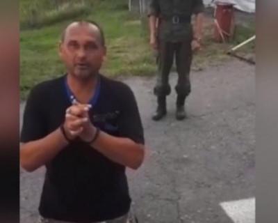 Гражданин Украины на коленях умолял впустить его в Россию (ВИДЕО)