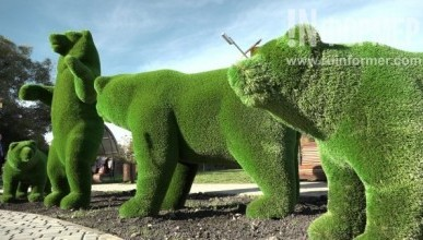 Тицкий вместо пустыря открыл в Севастополе прекрасный сквер «Четыре медведя» (ФОТО, ВИДЕО)