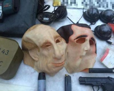 На Украине бандиты грабили иностранцев с помощью маски Владимира Путина (ФОТО)