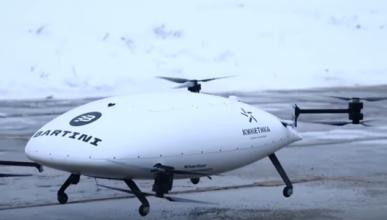 Летающее такси будущего не справилось с испытанием и рухнуло в сугроб (ВИДЕО)