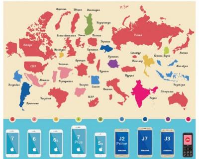 Какие смартфоны популярны в разных странах
